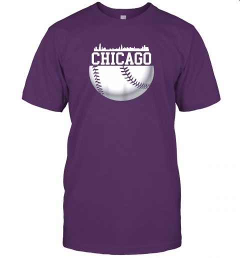 vluh vintage downtown chicago shirt baseball retro illinois state jersey t shirt 60 front team purple