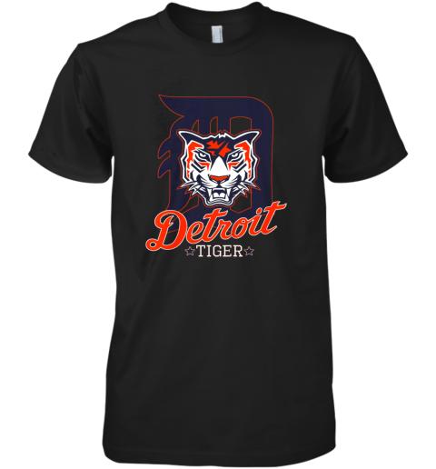 Tiger Mascot Distressed Detroit Baseball T shirt New Premium Men's T-Shirt