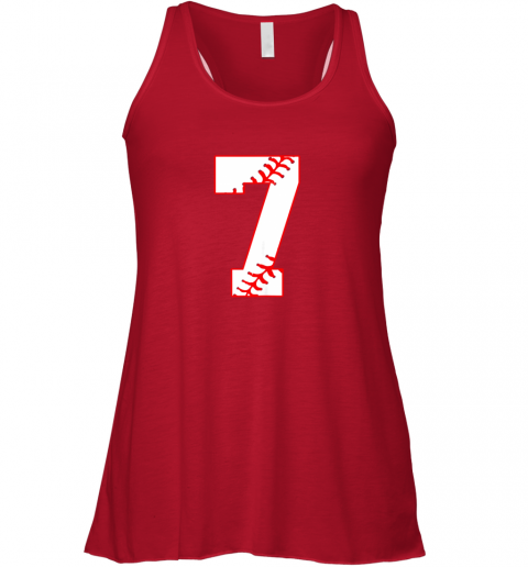 oxrp cute seventh birthday party 7th baseball shirt born 2012 flowy tank 32 front red