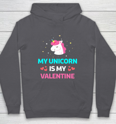 Funny Valentines Day Shirt Unicorn Is My Valentine Hoodie 4