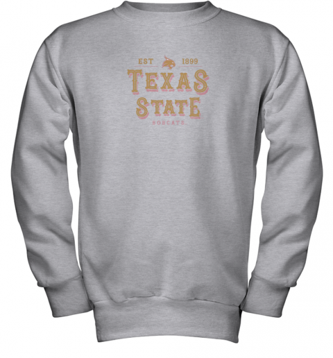 nwzp texas state bobcats womens college ncaa youth sweatshirt 47 front sport grey