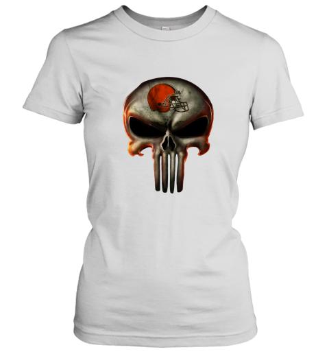 Cleveland Browns The Punisher Mashup Football Women's T-Shirt