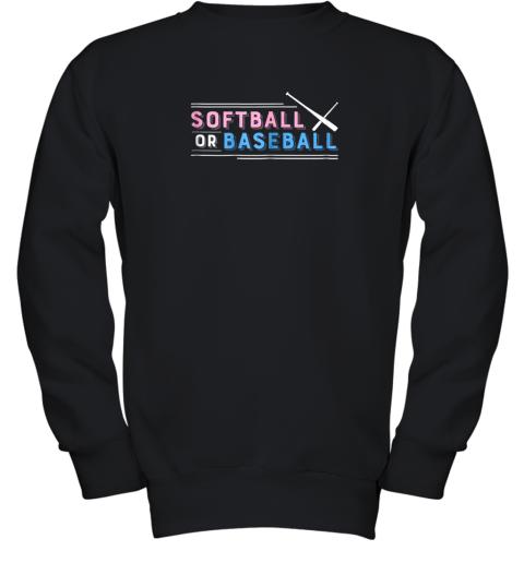 Softball or Baseball Shirt, Sports Gender Reveal Youth Sweatshirt