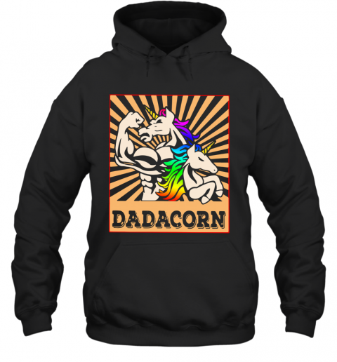 Father Day Strong Unicorn Dadacorn Hoodie