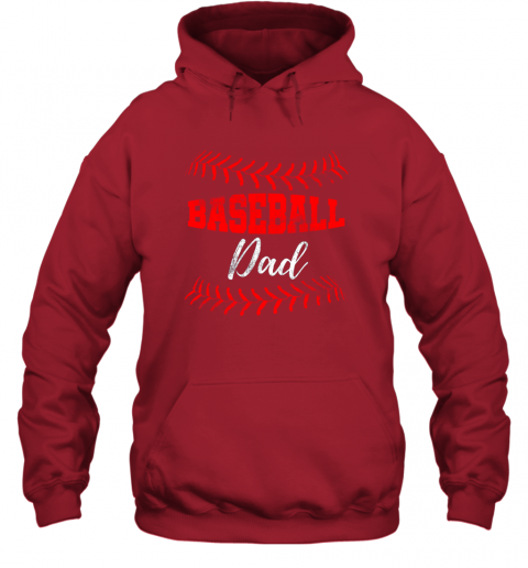 xt3q mens baseball inspired dad fathers day hoodie 23 front red