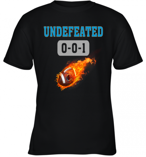 NFL CAROLINA PANTHERS Logo Undefeated Youth T-Shirt