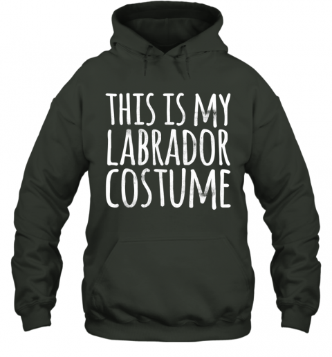 THIS IS MY LABRADOR COSTUME Dog Funny Easy Lazy Halloween Hoodie