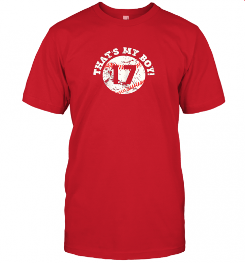 s45y that39 s my boy 17 baseball player mom or dad gift jersey t shirt 60 front red