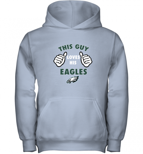 rztm this guy loves his philadelphia eagles youth hoodie 43 front light pink