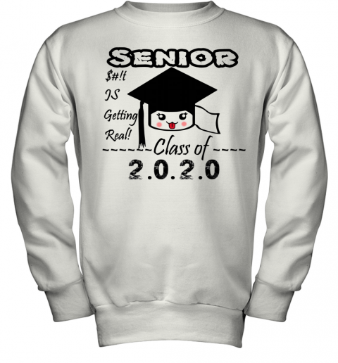 Senior Class Of 2020 Toilet Paper Is Getting Real Youth Sweatshirt