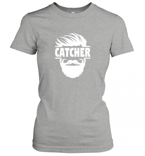 lswh bearded baseball catcher ladies t shirt 20 front ash