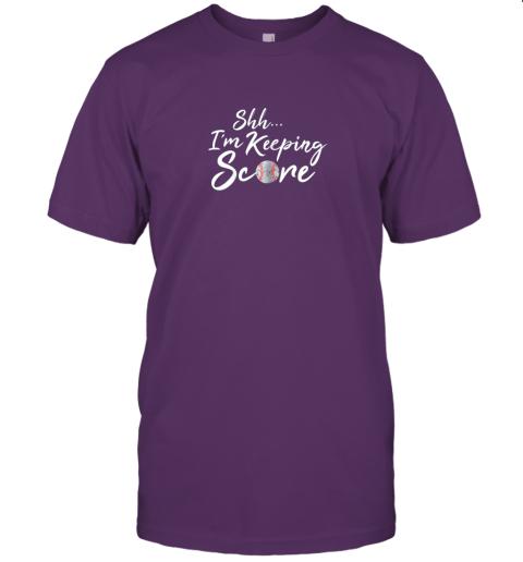 zvuz scorekeeper gift funny baseball team score book keeper jersey t shirt 60 front team purple