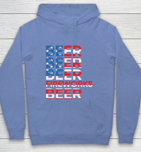 Beer Lover Funny Shirt Beer Fireworks 4th Of July Youth Hoodie 8