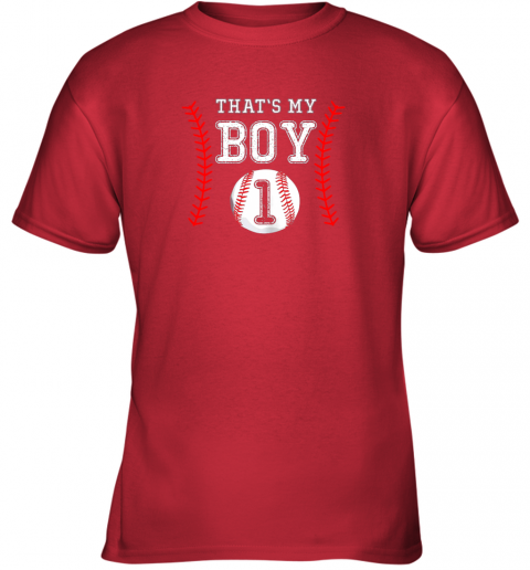 ljtq that39 s my boy baseball 1 year old dad mom youth t shirt 26 front red
