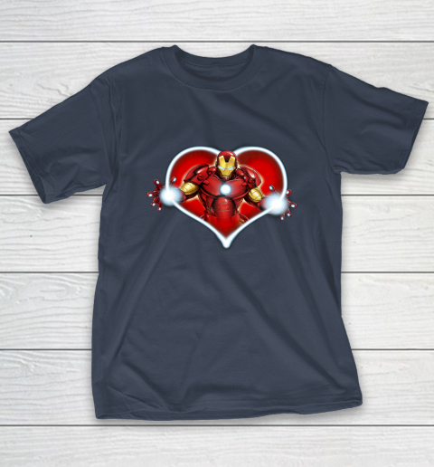 Marvel Iron Man Heart Blaster Glow Valentine Graphic T-Shirt 13
