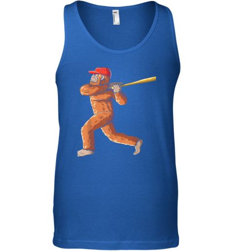 nui4 bigfoot baseball sasquatch playing baseball player unisex tank 17 front royal