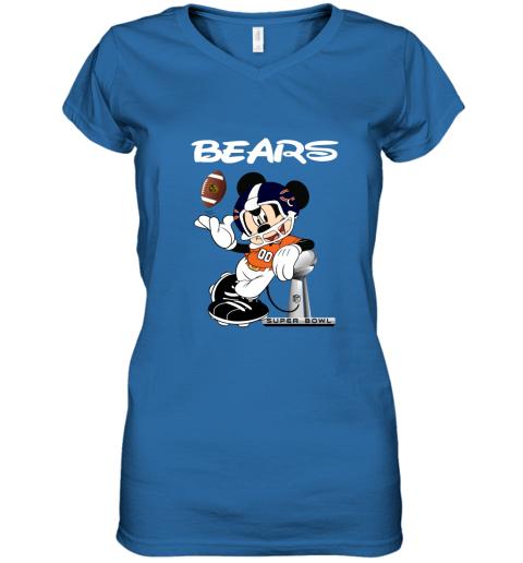 kkos mickey bears taking the super bowl trophy football women v neck t shirt 39 front royal