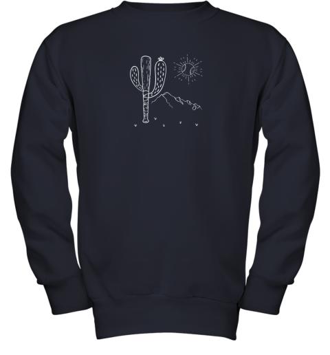 cxex cactus baseball bat image shirt for america39 s pastime fan youth sweatshirt 47 front navy