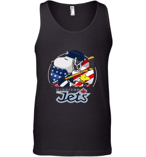 Winnipeg Jets  Snoopy And Woodstock NHL Tank Top