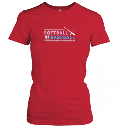 01ct softball or baseball shirt sports gender reveal ladies t shirt 20 front red