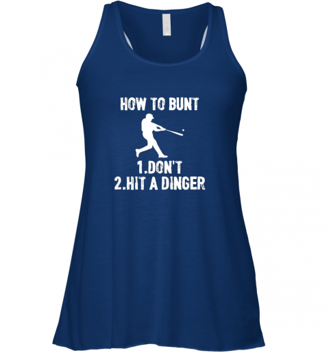 wmvt how to bunt don39 thit a dinger funnybaseball flowy tank 32 front true royal