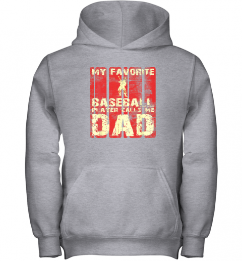 kapd mens my favorite baseball player calls me dad retro gift youth hoodie 43 front sport grey