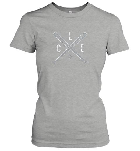 j29o vintage cleveland baseball shirt cleveland ohio ladies t shirt 20 front ash