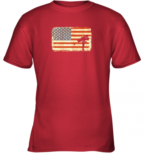 u2r3 vintage baseball pitcher shirt american flag youth t shirt 26 front red