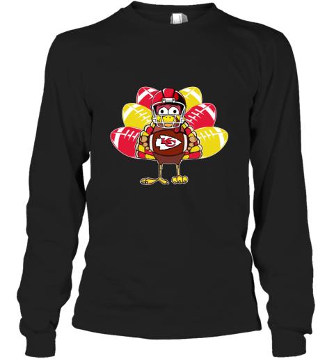 Kansas City Chiefs  Thanksgiving Turkey Football NFL Long Sleeve T-Shirt