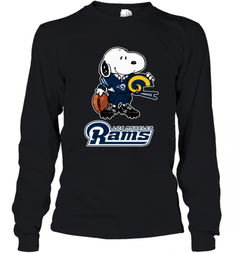 Snoopy A Strong And Proud Los Angeles Rams NFL Youth Long Sleeve