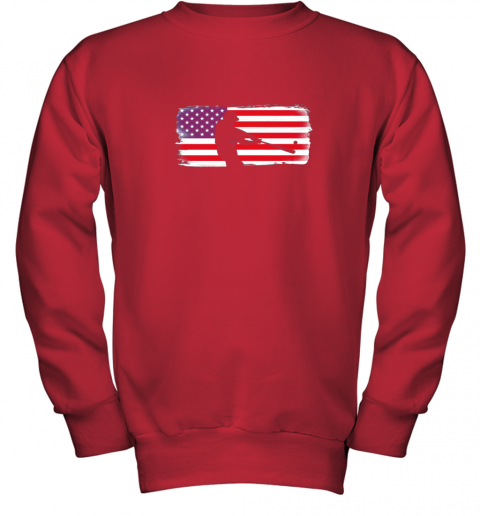 txxv usa american flag baseball player perfect gift youth sweatshirt 47 front red