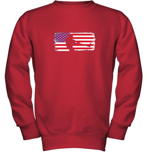 txxv usa american flag baseball player perfect gift youth sweatshirt 47 front red