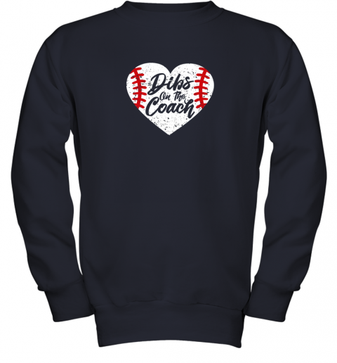 vdw2 dibs on the coach funny baseball youth sweatshirt 47 front navy