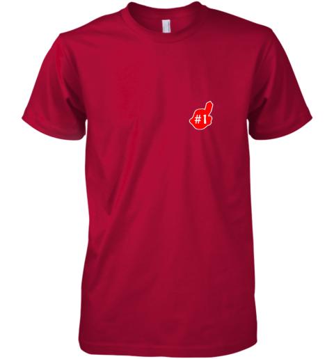v52n 1 cleveland hometown indian tribe vintage baseball fans premium guys tee 5 front red