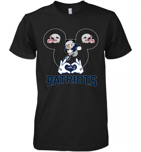 I Love The Patriots Mickey Mouse New England Patriots Premium Men's T-Shirt