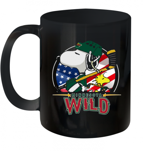 Minnesota Wild Ice Hockey Snoopy And Woodstock NHL Ceramic Mug 11oz