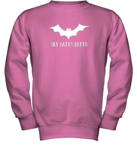 5wl3 halloween bat shirt funny baseball lover hey batta gift youth sweatshirt 47 front safety pink