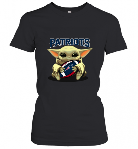Baby Yoda Loves The New England Patriots Women's T-Shirt