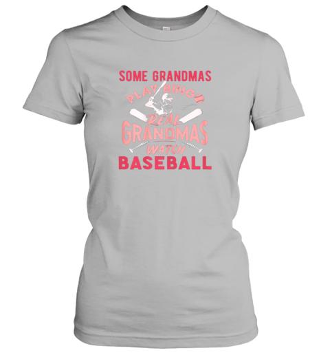 lidy some grandmas play bingo real grandmas watch baseball gift ladies t shirt 20 front sport grey