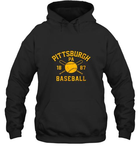 Vintage Pittsburgh Baseball Pennsylvania Pirate Retro Gift Hoodie