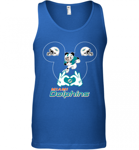 s0wz i love the dolphins mickey mouse miami dolphins unisex tank 17 front royal