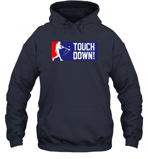 y4dl touchdown baseball funny family gift base ball hoodie 23 front navy