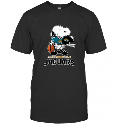 Snoopy A Strong And Proud Jacksonville Jaguars NFL T-Shirt