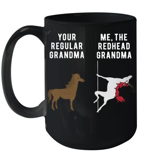 Your Regular Grandma Me The Redhead Grandma Ceramic Mug 15oz