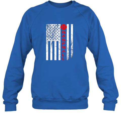 75at usa red whitevintage american flag baseball gift sweatshirt 35 front royal