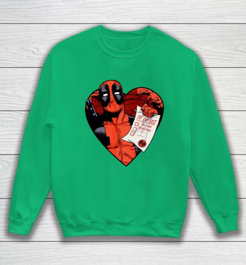 Marvel Deadpool Valentine To Do List Sweatshirt 5
