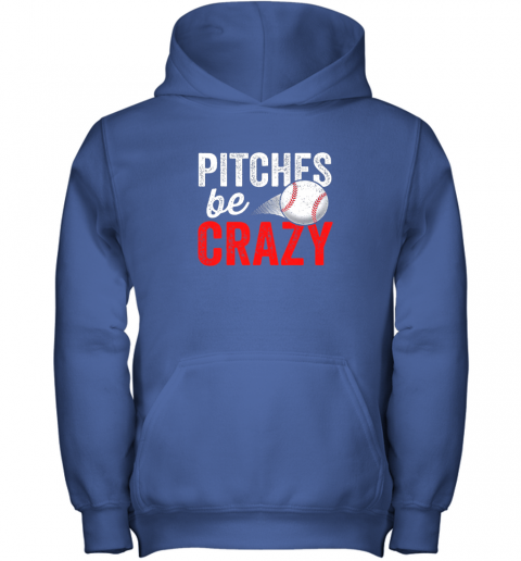 miwg pitches be crazy baseball shirt funny pun mom dad adult youth hoodie 43 front royal