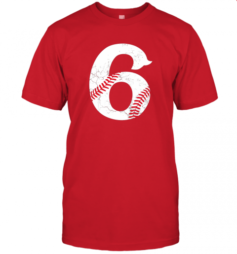 68a2 kids happy birthday 6th 6 year old baseball gift boys girls 2013 jersey t shirt 60 front red