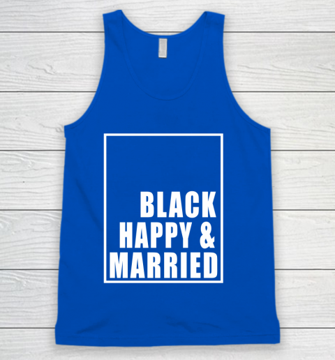 Black Happy And Married Tank Top 4