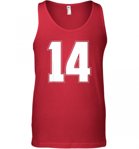 um7d halloween group costume 14 sport jersey number 14 14th bday unisex tank 17 front red